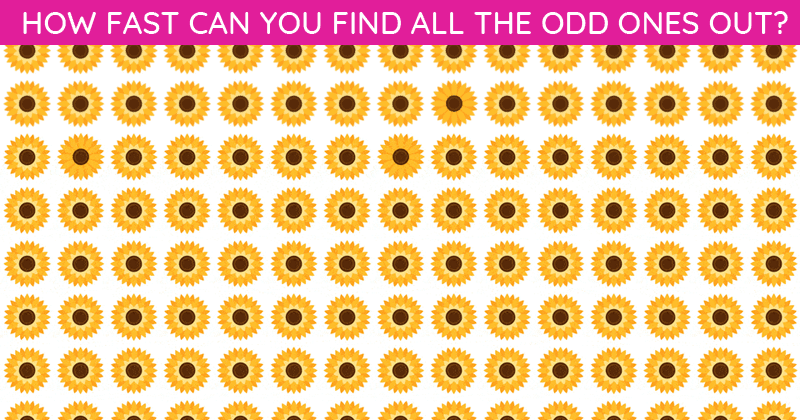Only 1 In 30 Sharp-Eyed People Can Achieve 100% In This Tough Odd One Out Visual Challenge. How About You?