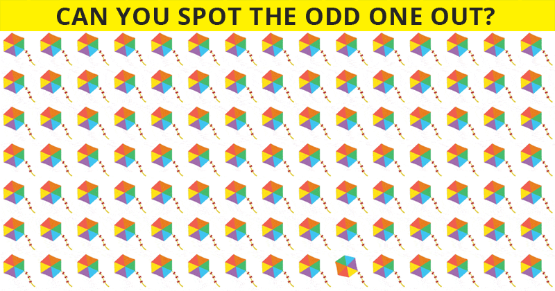 This Odd One Out Test Will Determine Your Visual Perception In One Minute