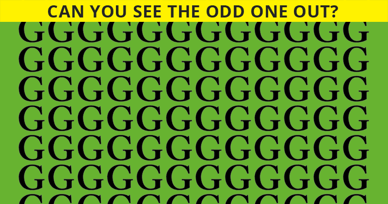 This Odd One Out Game Will Determine Your Visual Perception In Less Than One Minute