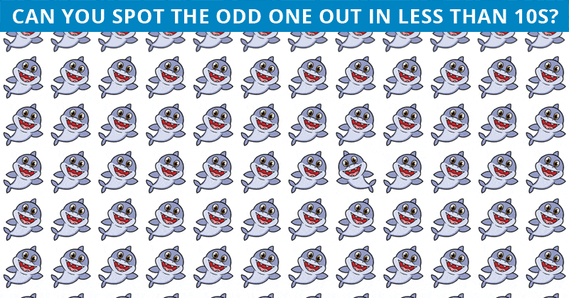 Almost No One Can Beat This Tough Odd One Out Visual Puzzle. How About You?