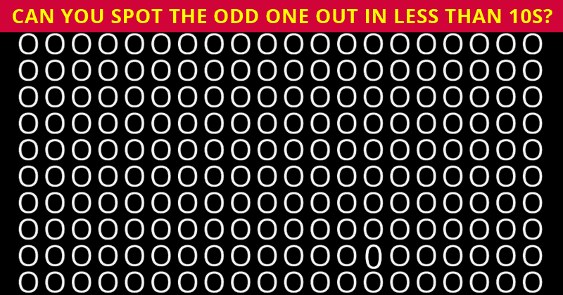 Only 3% Of People Can Find The Odd Letter! How About You?