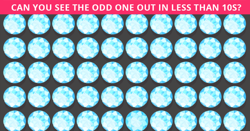 Only 1 In 30 Sharp-Eyed People Can Spot The Different Diamond!