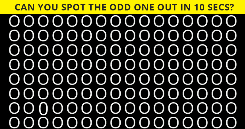 Only 3% Of People Can Find The Odd One Out! How About You?