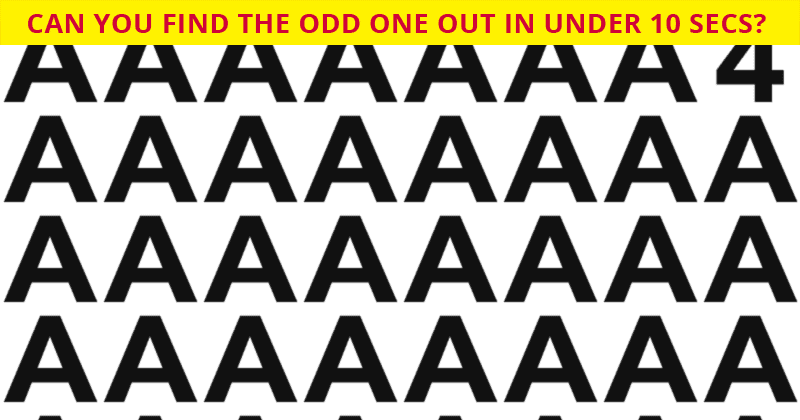 Almost No One Can Beat This Tough Odd One Out Test. How About You?