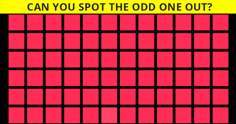 Challenge Time: Can You Spot The Odd Color Square Out In Less Than 5 Seconds?