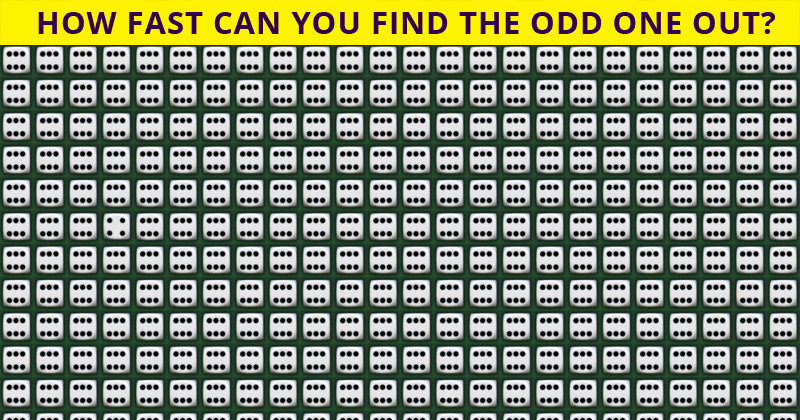 Only 1 In 50 People Can Beat This Odd One Out Visual Test. Are You Up To The Task?