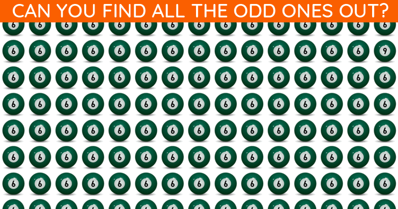 If You Can Pass This Tricky Odd One Out Game In 30 Seconds, You Have Unique Eyesight