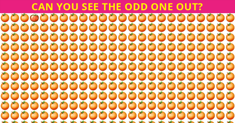 Only Highly Creative People Can Pass This Odd One Out Visual Puzzle