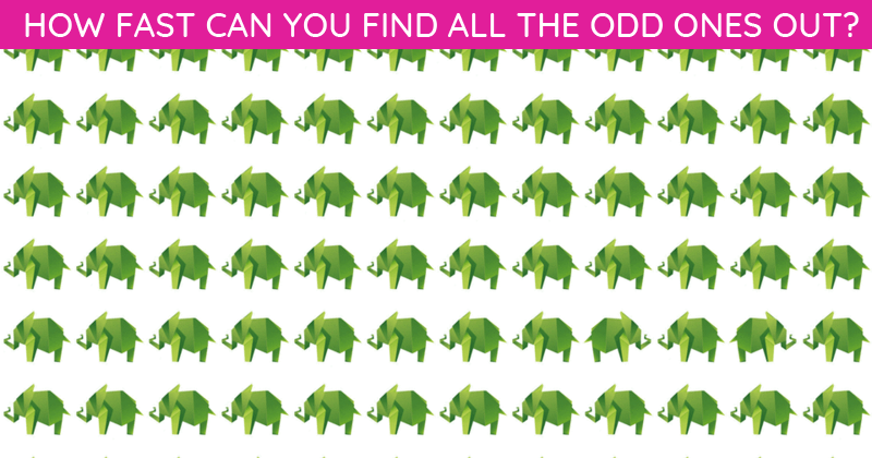 This Odd One Out Visual Quiz Will Determine Your Visual Perception Talents In About 60 Seconds