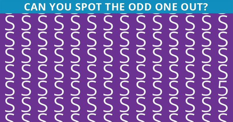 How Fast Can You Find The Odd Letter Out In This Image?