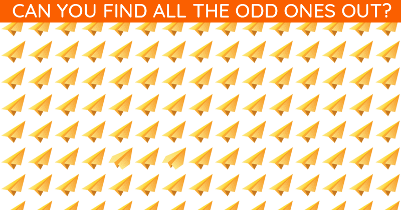 Only 7% Of People Can Achieve 100% In This Odd One Out Visual Test. How About You?