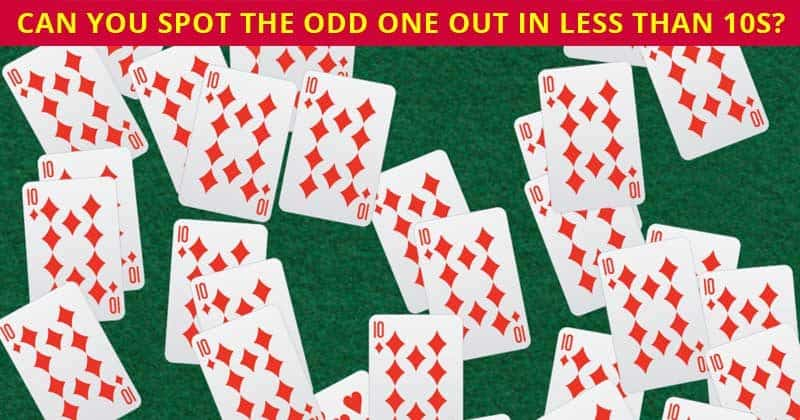 Only 2 In 99 Americans Can Find All The Odd Cards In Less Than 60 Seconds. Can You?