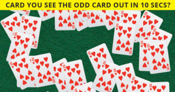 Nobody Can Solve This. Can You Spot The Odd Playing Card Immediately?