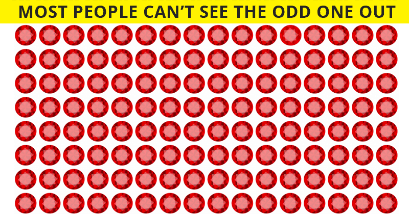 Only 1 In 25 Sharp-Eyed People Can Spot The Odd Ruby Out!