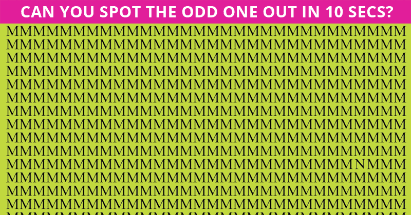 No One Can Score A Perfect 10 On This Tough Odd One Out Visual Test Without Cheating. Prove Us Wrong!