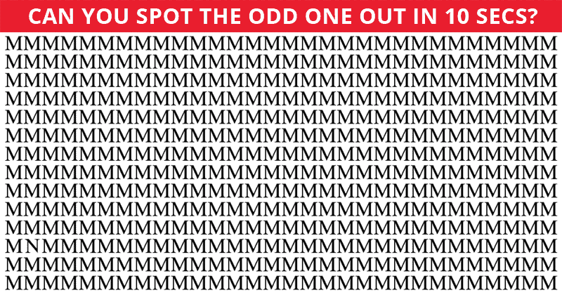 Only 1 In 30 Sharp-Eyed People Can Achieve 100% In This Difficult Odd One Out Visual Test. How About You?