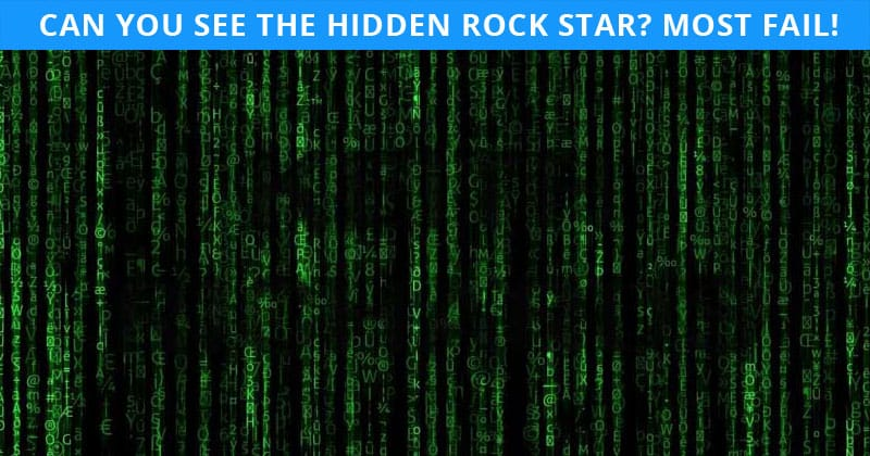 This Hidden Rock Stars Puzzle Will Determine Your Visual Perception In 60 Seconds