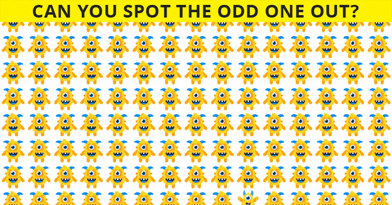 1 In 30 Sharp-Eyed People Can Beat This Odd One Out Visual Puzzle. How About You?